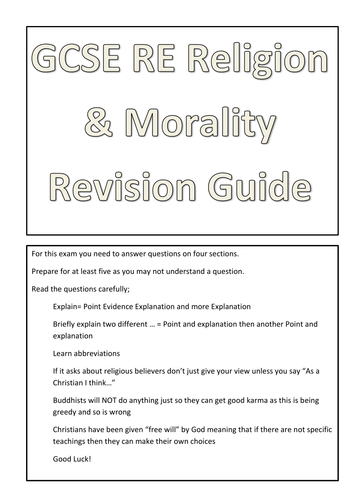 AQA Religion and Morality booklet