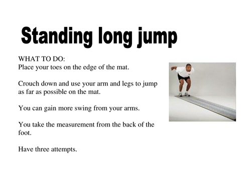 Standing Long Jump By Nwhitby22 Teaching Resources