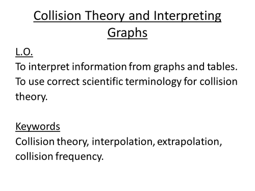Collision theory coursework