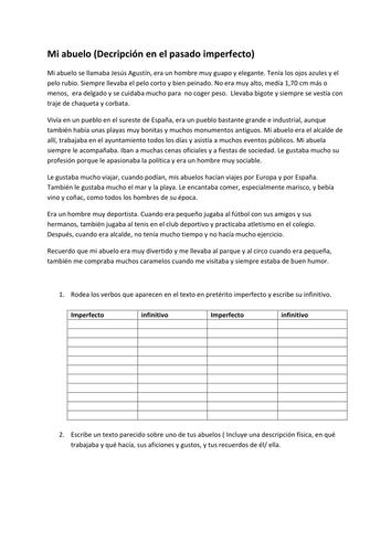 Math Word Problem Worksheet Excel Spanish School  El Colegio By Mpc  Teaching Resources  Tes Kindergarden Reading Worksheets Excel with Mr Gallon Man Worksheet Descripcion En Imperfectomi Abuelo Worksheets For Kindergarteners Excel