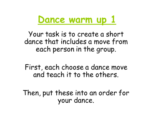 Street Dance SOW PEPerforming Arts 20 resources SOW lesson – Dance Worksheets