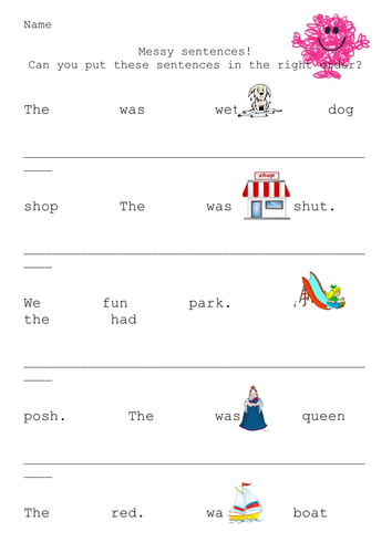 Mr. Messy Sentence Structure by c_firstbrook - Teaching Resources ...