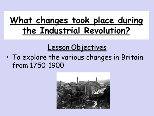 Midmodern history 1750 1900 teaching resources Industrial – Industrial Revolution Worksheet