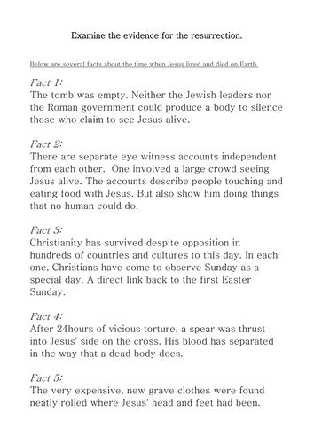 Detective game about Jesus' Resurrection
