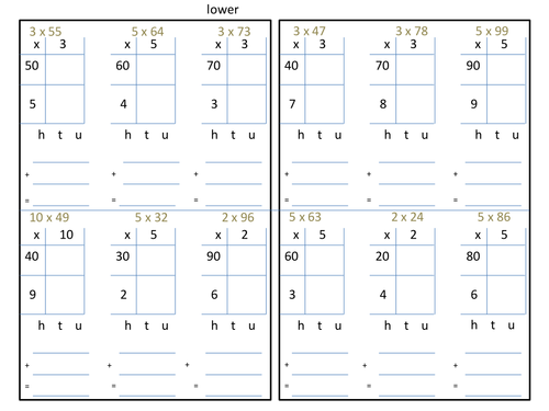 Grid Method by Andyjink99 Teaching Resources TES – Multiplication Grid Worksheet Ks2