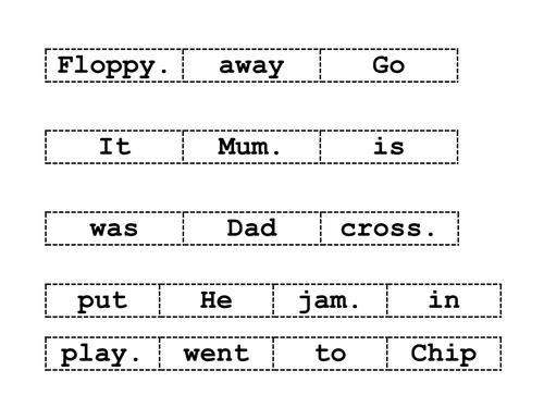 Oxford reading tree-jumbled sentences- cut & stick by ruthbentham ...