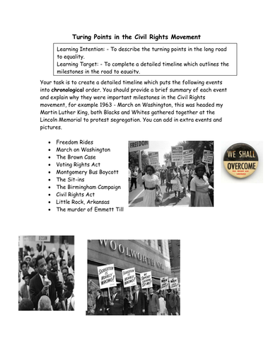 Turning Points in the Civil Rights Movement | Teaching ...
