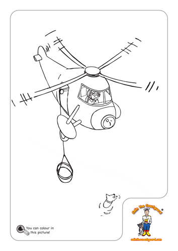 Frisky Falls Overboard: Colouring Sheets by Kittiwake