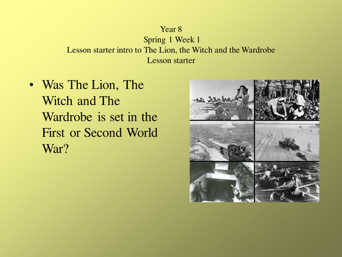 Lion The Witch And The Wardrobe Presentation By Cazzie123 Teaching