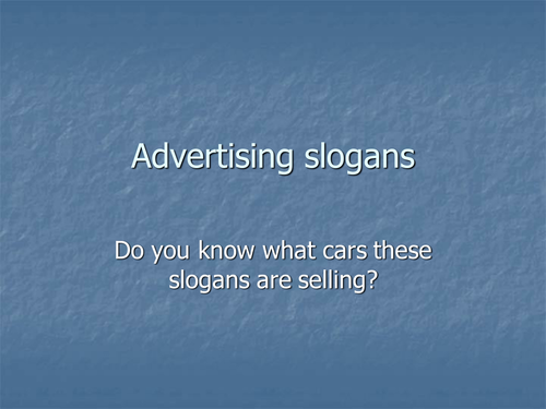 stylistic analysis of the advertising slogan essay What are some of the most enduring slogans and what's in a slogan popular literary devices to make your news and expert analysis to help keep you ahead.