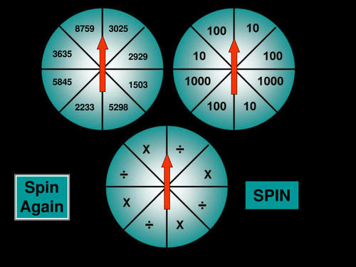 English In Italian: Multiply/divide By 10,100,1000 Spinner By BarryP
