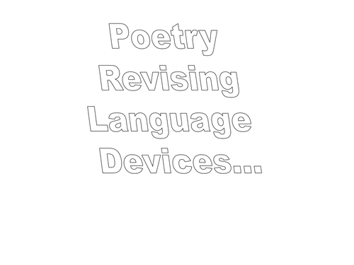 ks3 poetry revising poetic techniques by johncallaghan teaching resources tes. Black Bedroom Furniture Sets. Home Design Ideas
