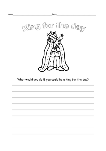 queen or king for the day by ruthbentham teaching resources tes. Black Bedroom Furniture Sets. Home Design Ideas