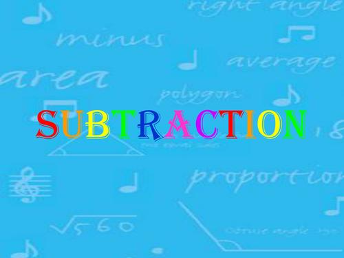Subtraction - exchanging