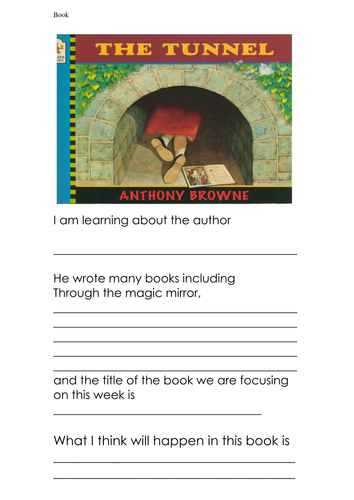 The Tunnel Activities Year 1 And 2 6218326 on Book Report Activities For Middle School