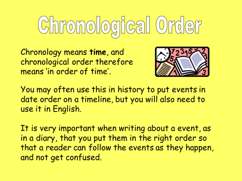 Chronological order narrative essay