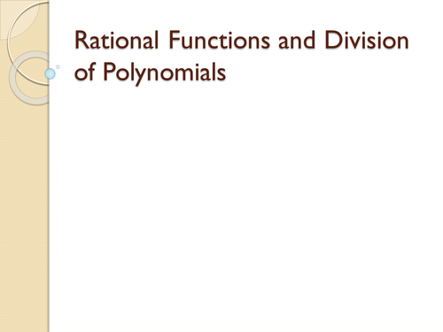 Division of Polynomials by brinabianco Teaching Resources TES – Dividing Polynomials Worksheet