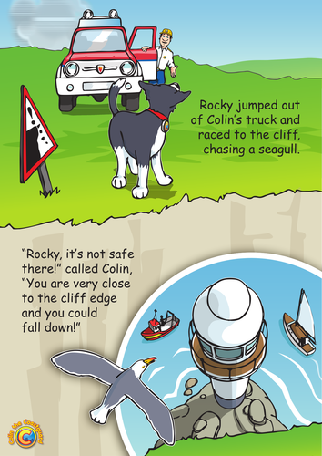 Colin the Coastguard Poster: Mind the Edge