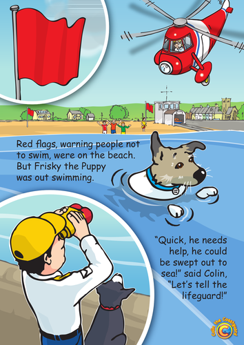 Colin the Coastguard Poster: Don't Go Out Too Far