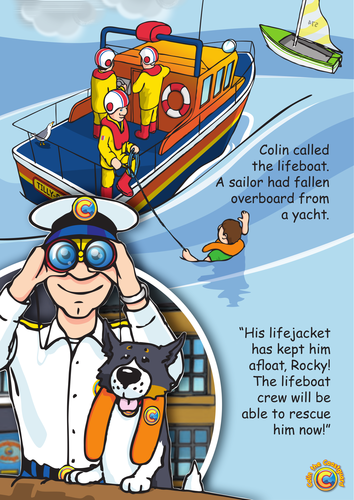 Colin the Coastguard Poster: Wear a Lifejacket