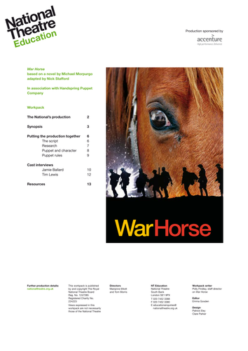 war horse teaching resources by film ed uk teaching resources tes. Black Bedroom Furniture Sets. Home Design Ideas