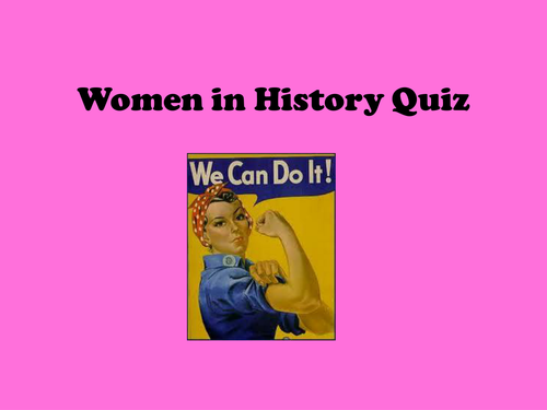 Women in History Quiz