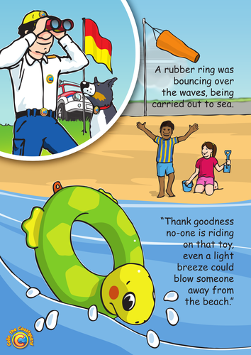 Colin the Coastguard Poster: Inflatable Danger