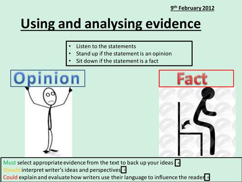 Analysing evidence: PEE Porphyria's Lover