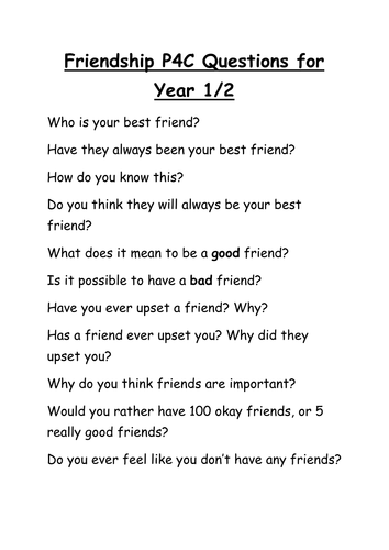 pc  pshe friendship questions for ks by nmarwood  teaching  pc  pshe friendship questions for ks by nmarwood  teaching resources   tes