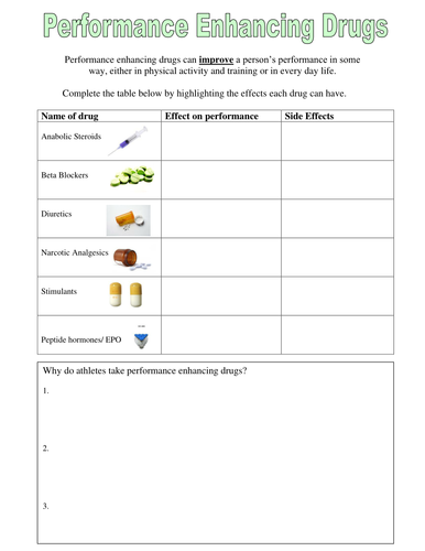 performance enhancing drugs worksheet edexcel by jemma13 teaching resources. Black Bedroom Furniture Sets. Home Design Ideas