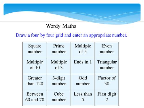 KS3 Puzzle Starters Part 1 by vikkibushell - Teaching Resources - Tes