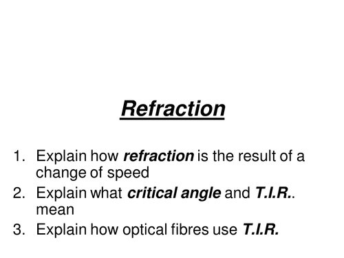 AQA GCSE Physics P1 reflection refraction PPT by lauh88 Teaching – Reflection and Refraction Worksheet