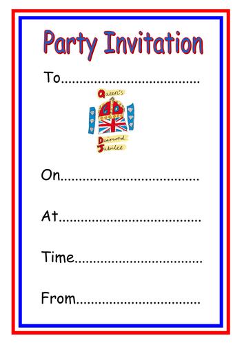 Party invitation template ks1 invitationswedd diamond jubilee party invitation template by kmed2020 teaching stopboris Images