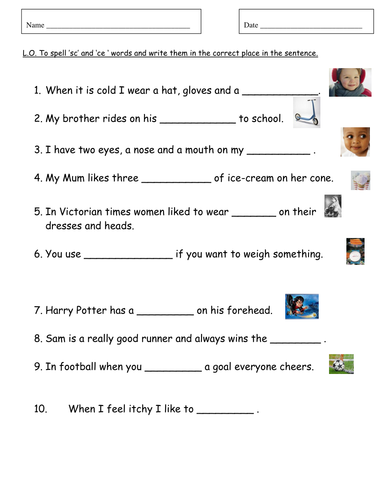 Phonic Worksheets Teaching Resources