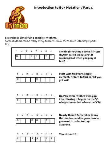 RhythmZone Box Notation Guide for Teachers