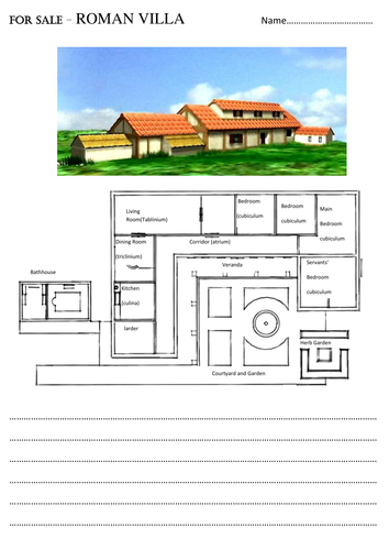 Roman Villas Vs Celtic Roundhouses Comparison Worksheet