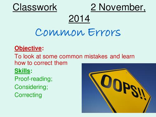 Checking for Errors