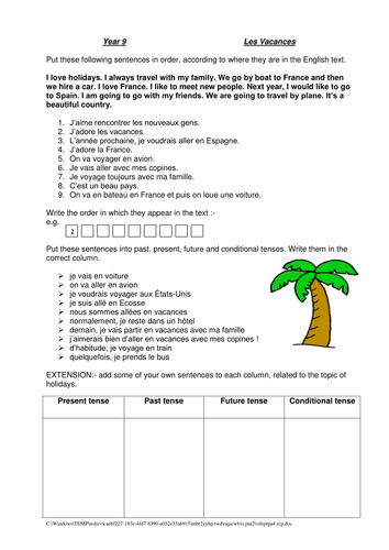holiday worksheet by phippskat teaching resources. Black Bedroom Furniture Sets. Home Design Ideas