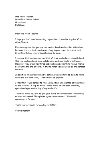 persuasive letter example and box plan by ncmac teaching resources tes