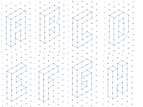 Alphabet on Isometric Paper by kirbybill Teaching Resources Tes – Isometric Dot Paper