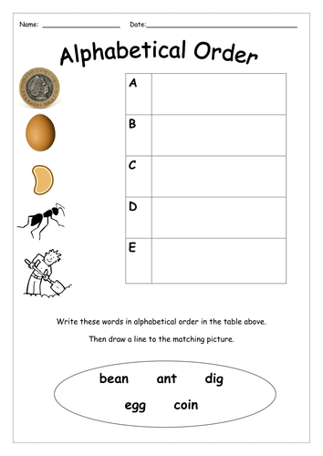 Alphabetical Order by missboult - Teaching Resources - TES