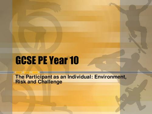 GCSE PE  - The Participant as an Individual Unit