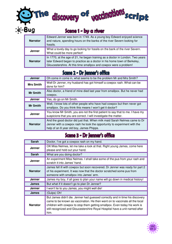 Primary - Vaccinations: Pupil Sheets
