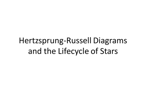 Hertzsprung russell diagrams by bwr102 teaching resources tes ccuart Image collections