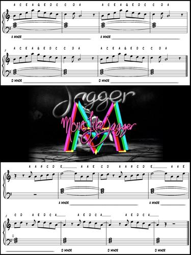 Moves Like Jagger Keyboard Music