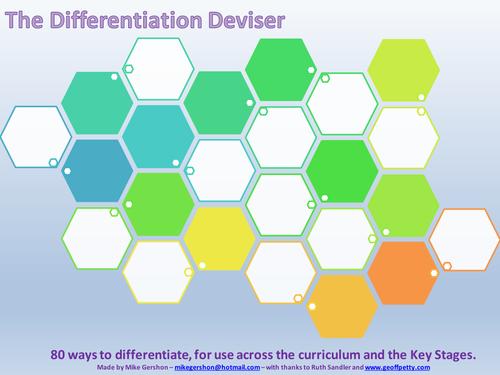 The Differentiation Deviser