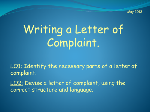 Complaint letters by sjb1987 teaching resources tes writing a letter of complaint spiritdancerdesigns Gallery