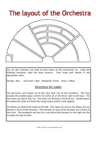 instruments of the orchestra worksheets mmosguides. Black Bedroom Furniture Sets. Home Design Ideas