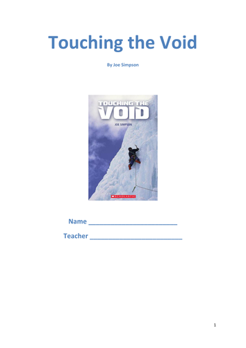 How To Write A Thesis Statement For A Essay Touching The Void Resource Pack Science Essay Ideas also Writing A High School Essay Touching The Void  Study  Revision Pack By Tesenglish  Teaching  Thesis Statement Example For Essays