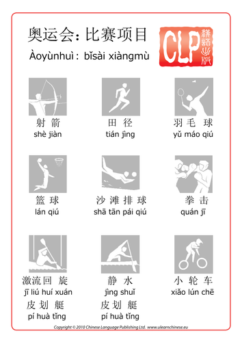 Chinese Olympic Sports and pair games